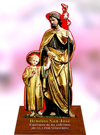 Imagen de San José con peana