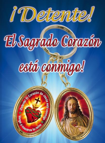 Llavero Detente Sagrado Corazón de Jesús